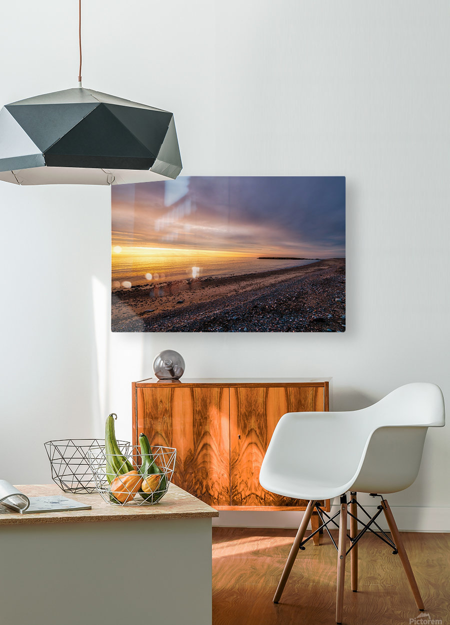 Glowing at la Bloc - CBHNP  HD Metal print with Floating Frame on Back