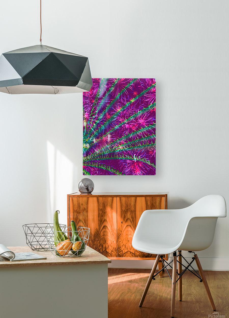 Elegant Fan  HD Metal print with Floating Frame on Back