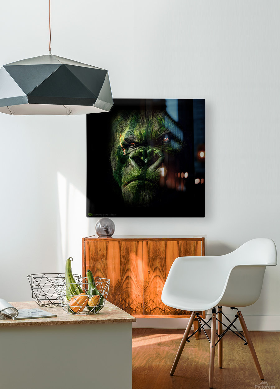 WATERMELOKONG  HD Metal print with Floating Frame on Back