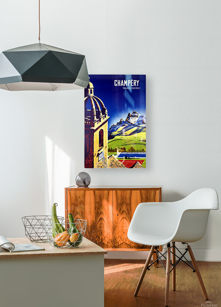 Champery  HD Metal print with Floating Frame on Back