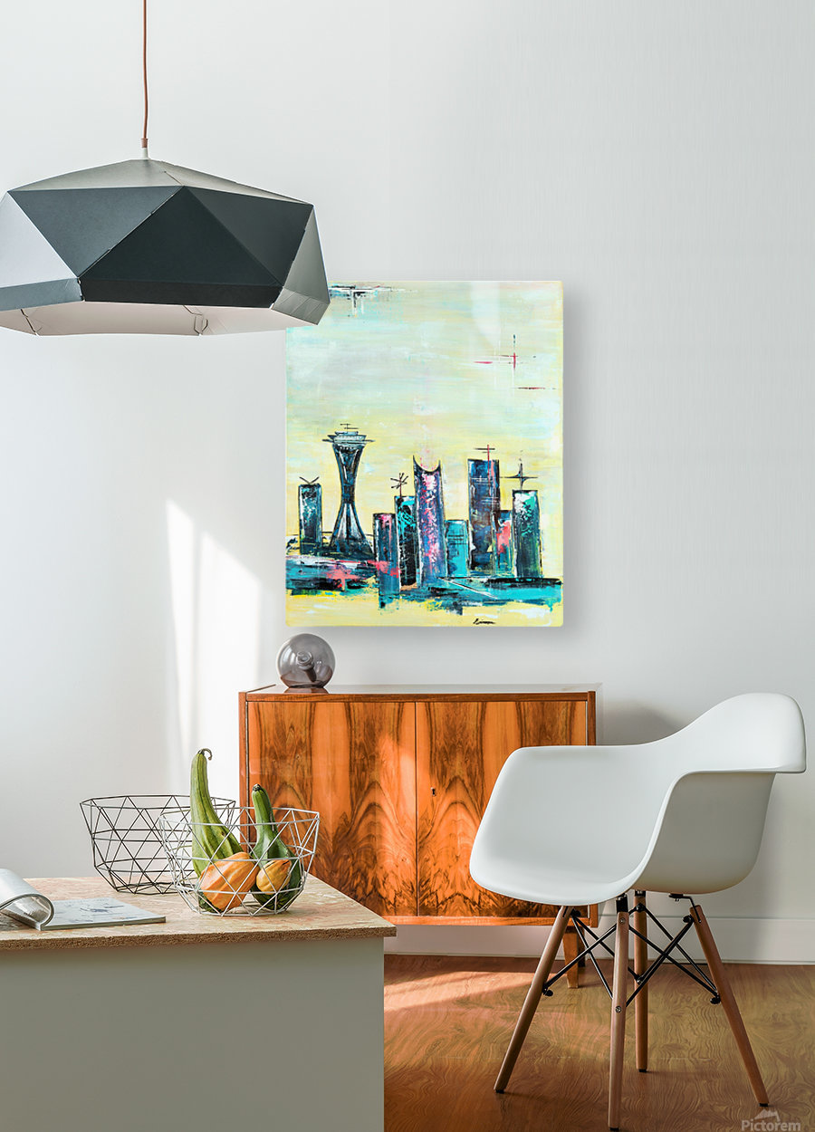 Uptown Seattle   HD Metal print with Floating Frame on Back