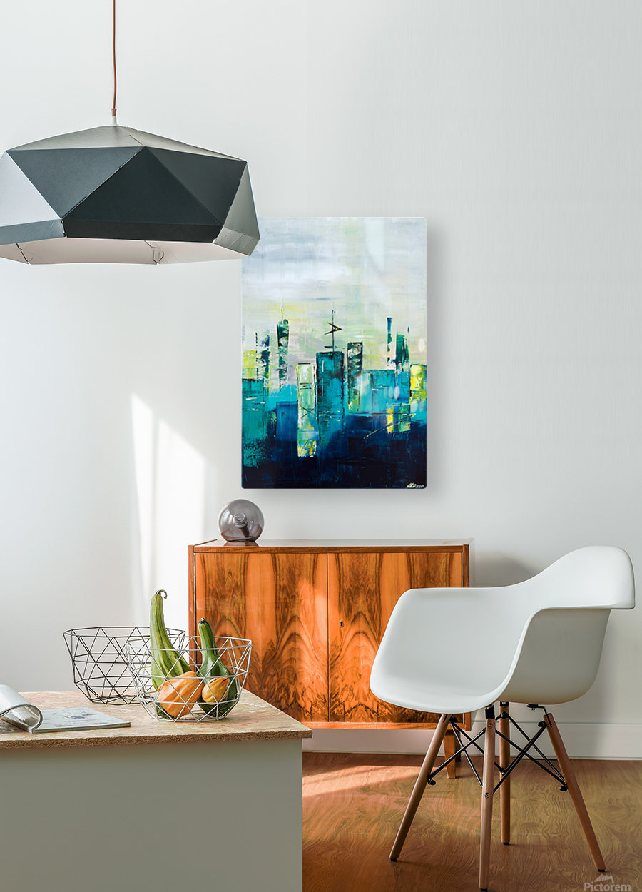 Uptown III  HD Metal print with Floating Frame on Back