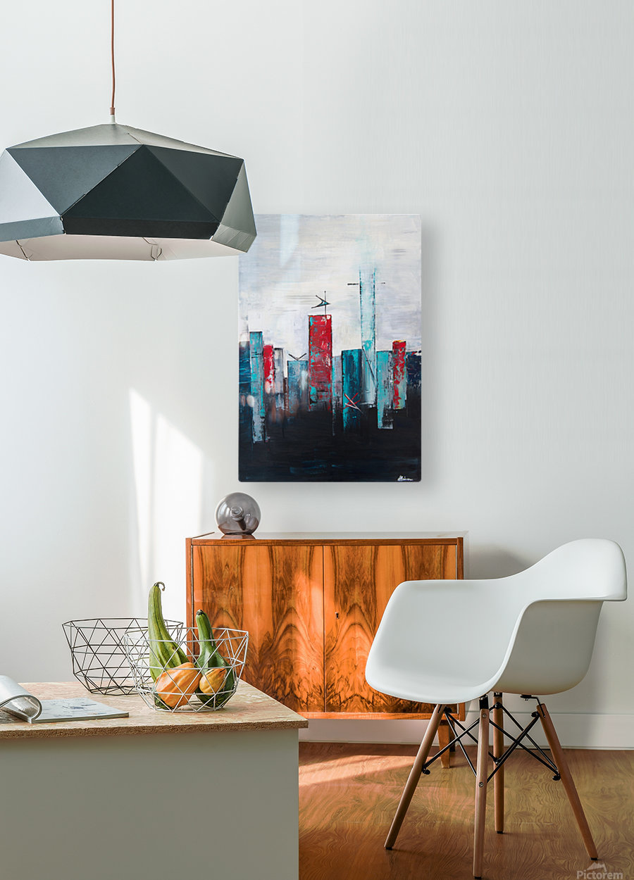 Uptown IV  HD Metal print with Floating Frame on Back