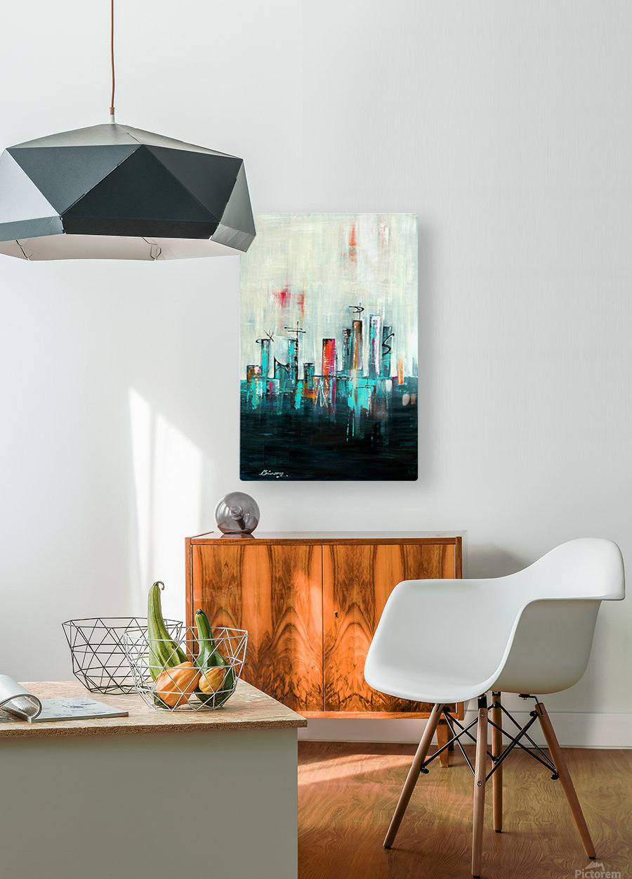 Uptown XXI  HD Metal print with Floating Frame on Back