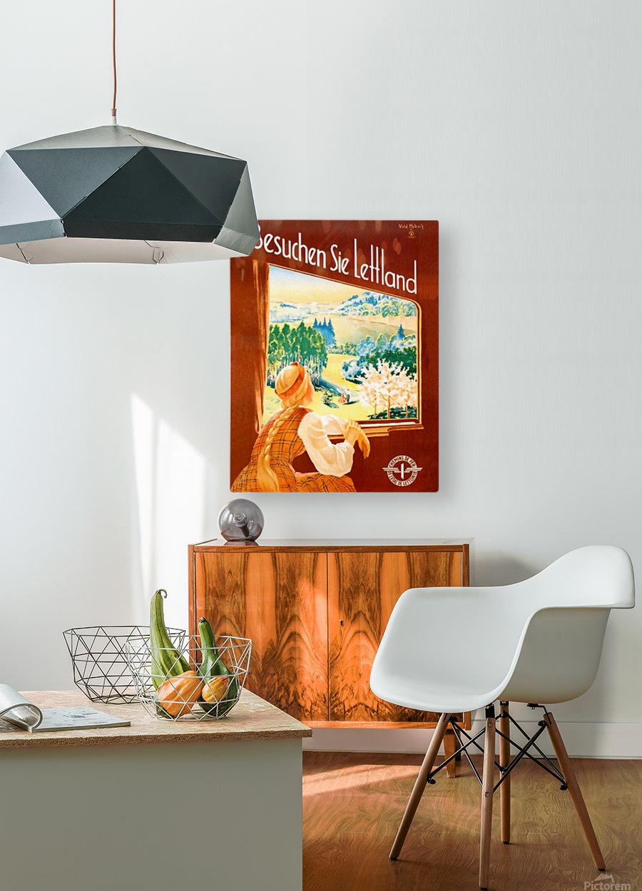 Latvia  HD Metal print with Floating Frame on Back