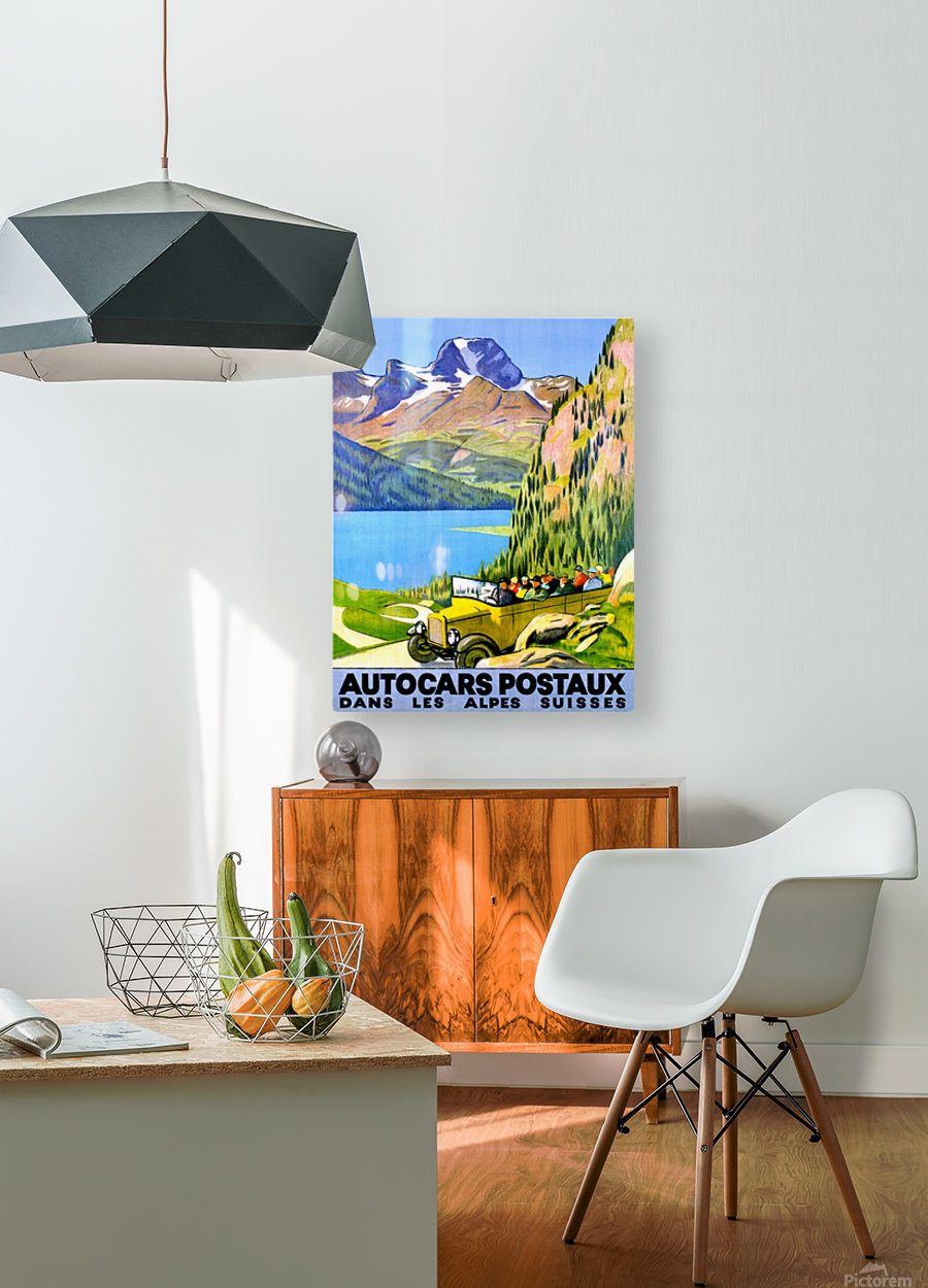 Swiss Alps by Car  HD Metal print with Floating Frame on Back