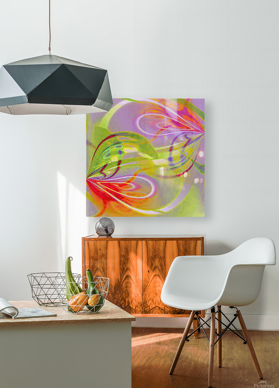 Infinity Painting Green  HD Metal print with Floating Frame on Back