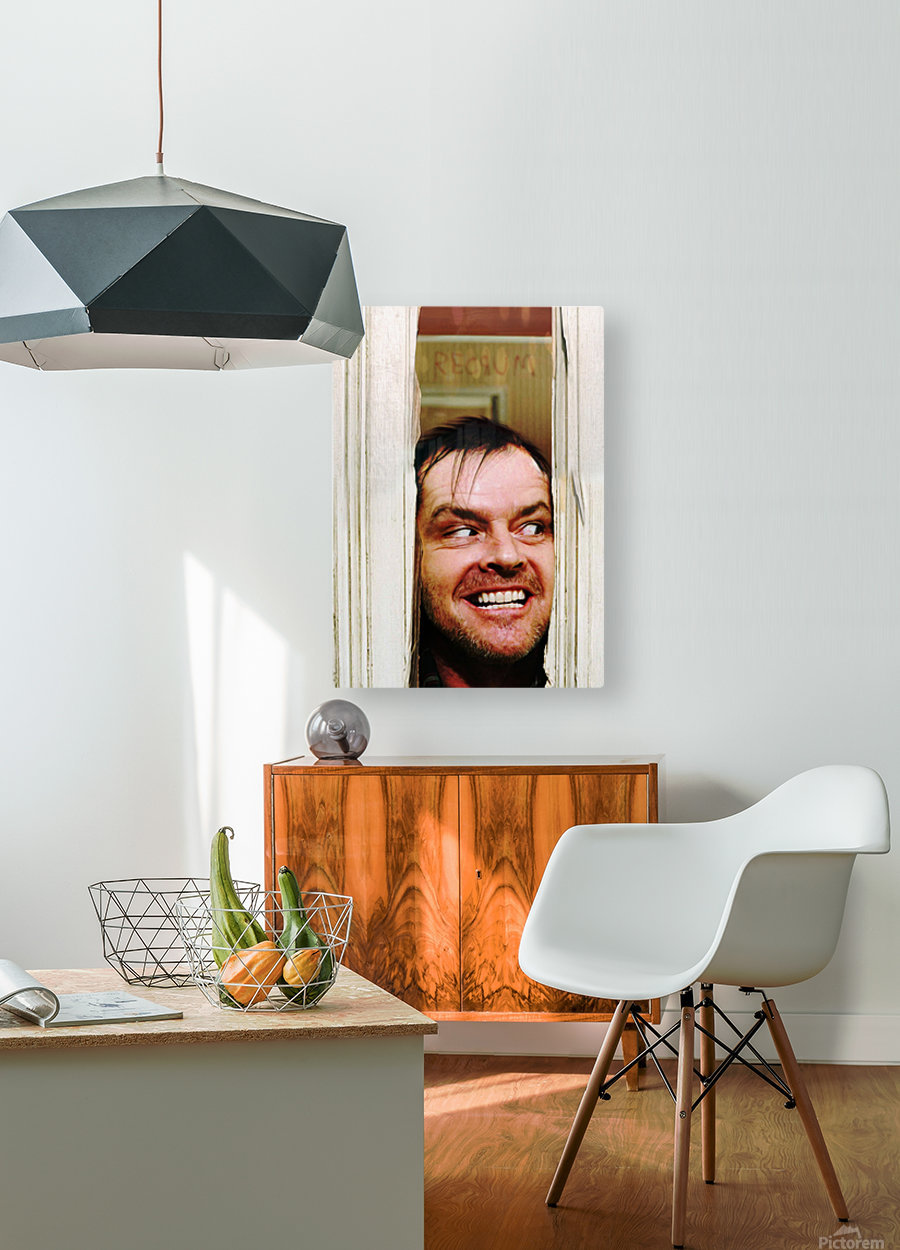Heres Johnny  HD Metal print with Floating Frame on Back