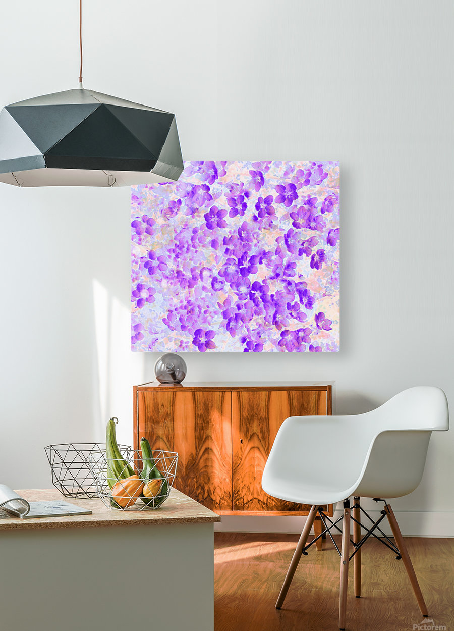 Purple Spring Flowers  HD Metal print with Floating Frame on Back