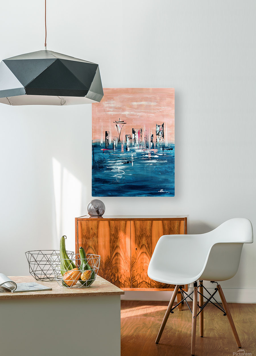Westown I  HD Metal print with Floating Frame on Back