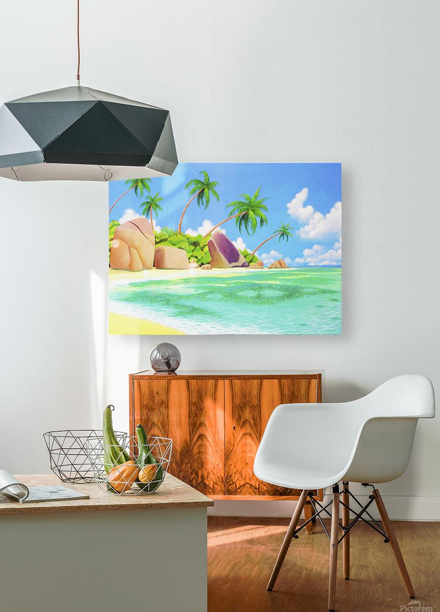 YASAWA   HD Metal print with Floating Frame on Back