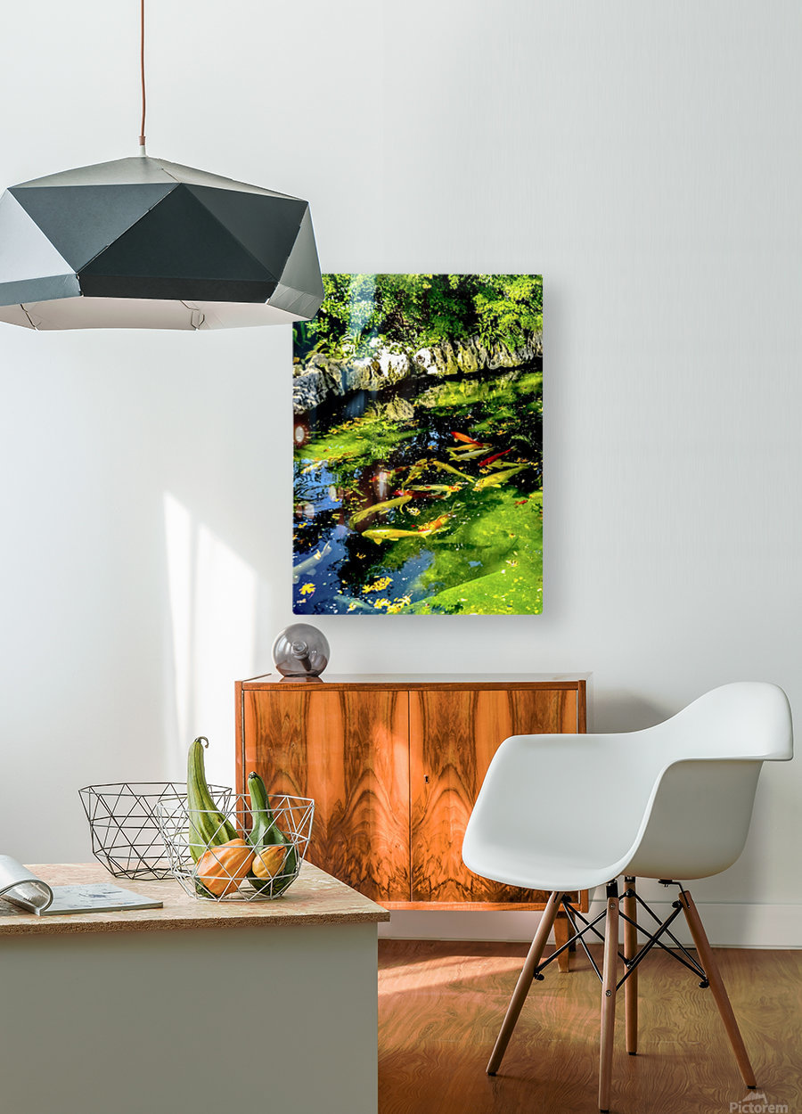 Pound of Color  HD Metal print with Floating Frame on Back