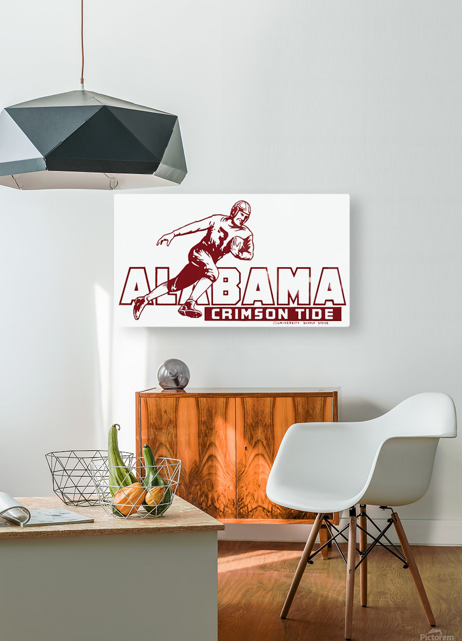 row one brand vintage alabama football crimson tide wood sign  HD Metal print with Floating Frame on Back