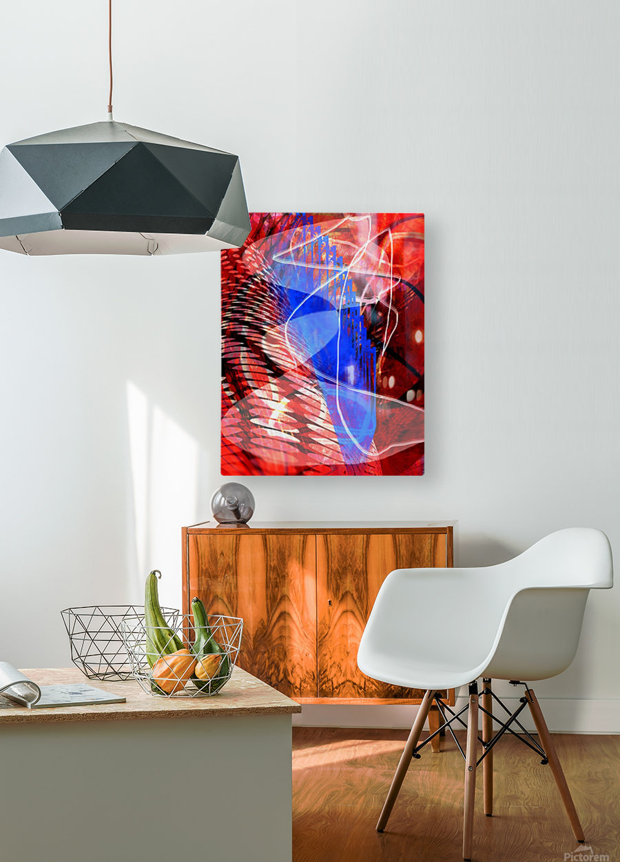 Z I T U  HD Metal print with Floating Frame on Back