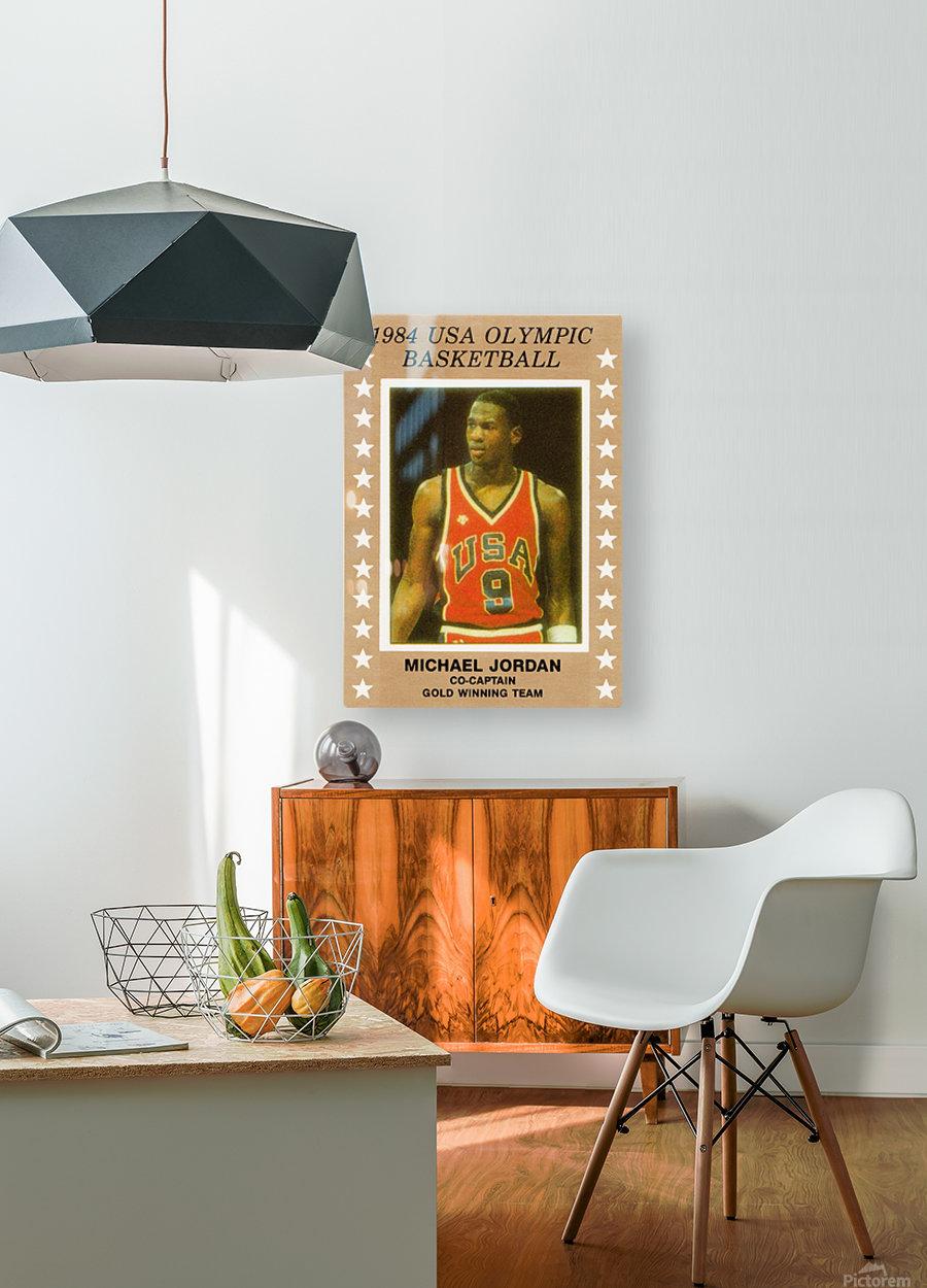 1984 USA Olympic Basketball Michael Jordan  HD Metal print with Floating Frame on Back