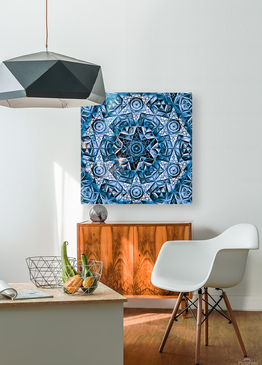 Sacred Geometry Handdrawing Pattern  HD Metal print with Floating Frame on Back