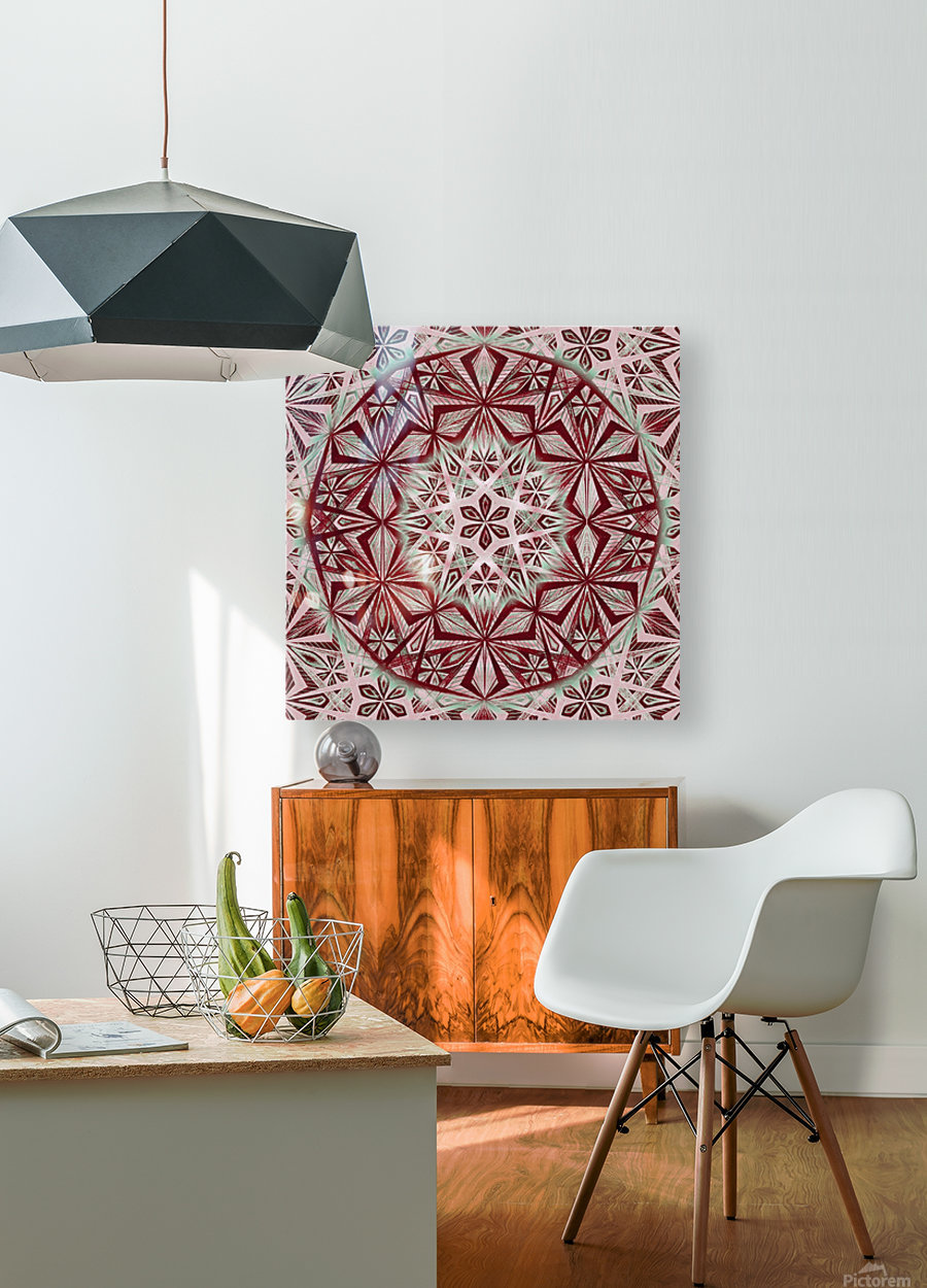 Vintage Star Caleidoscope Handdrawing  HD Metal print with Floating Frame on Back