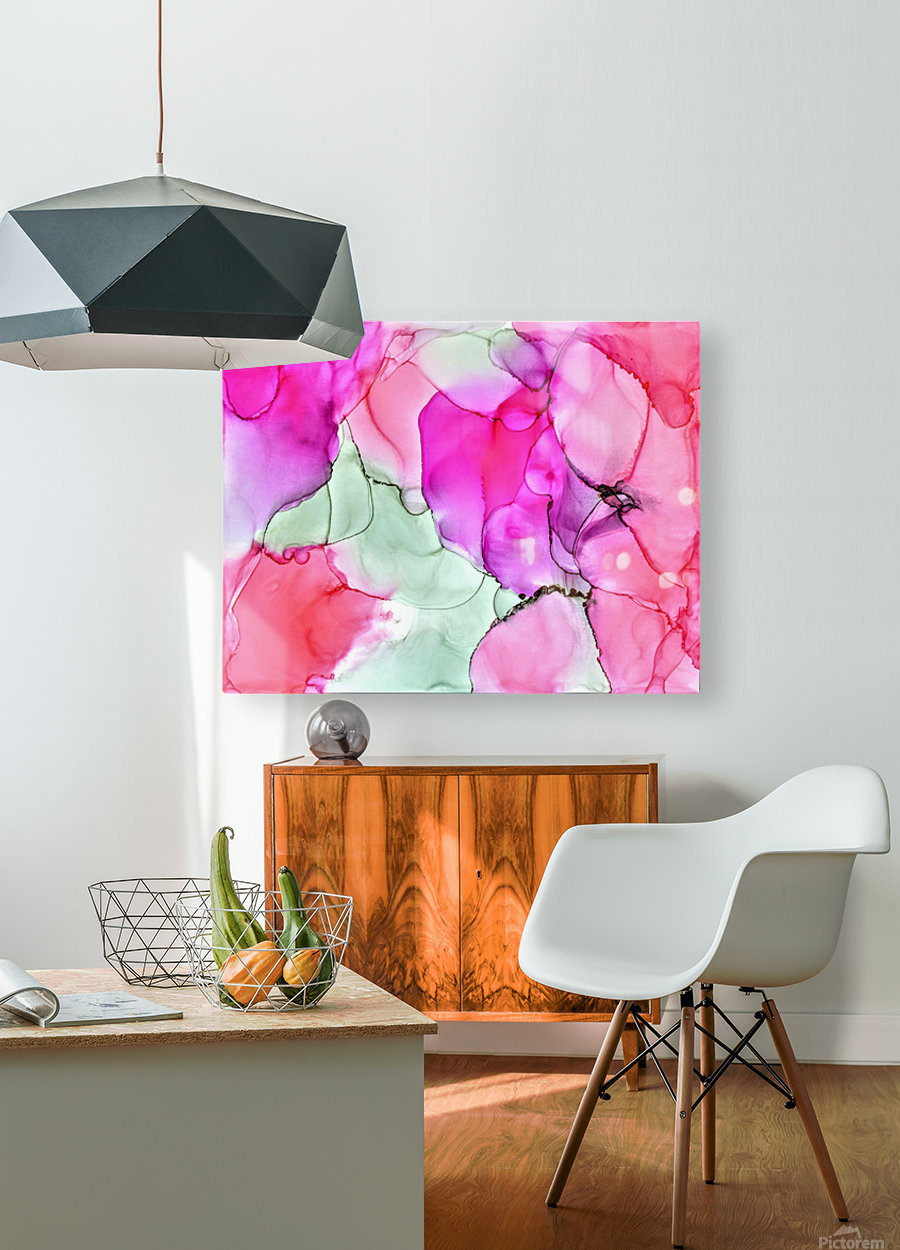 Happiness in Pink  HD Metal print with Floating Frame on Back