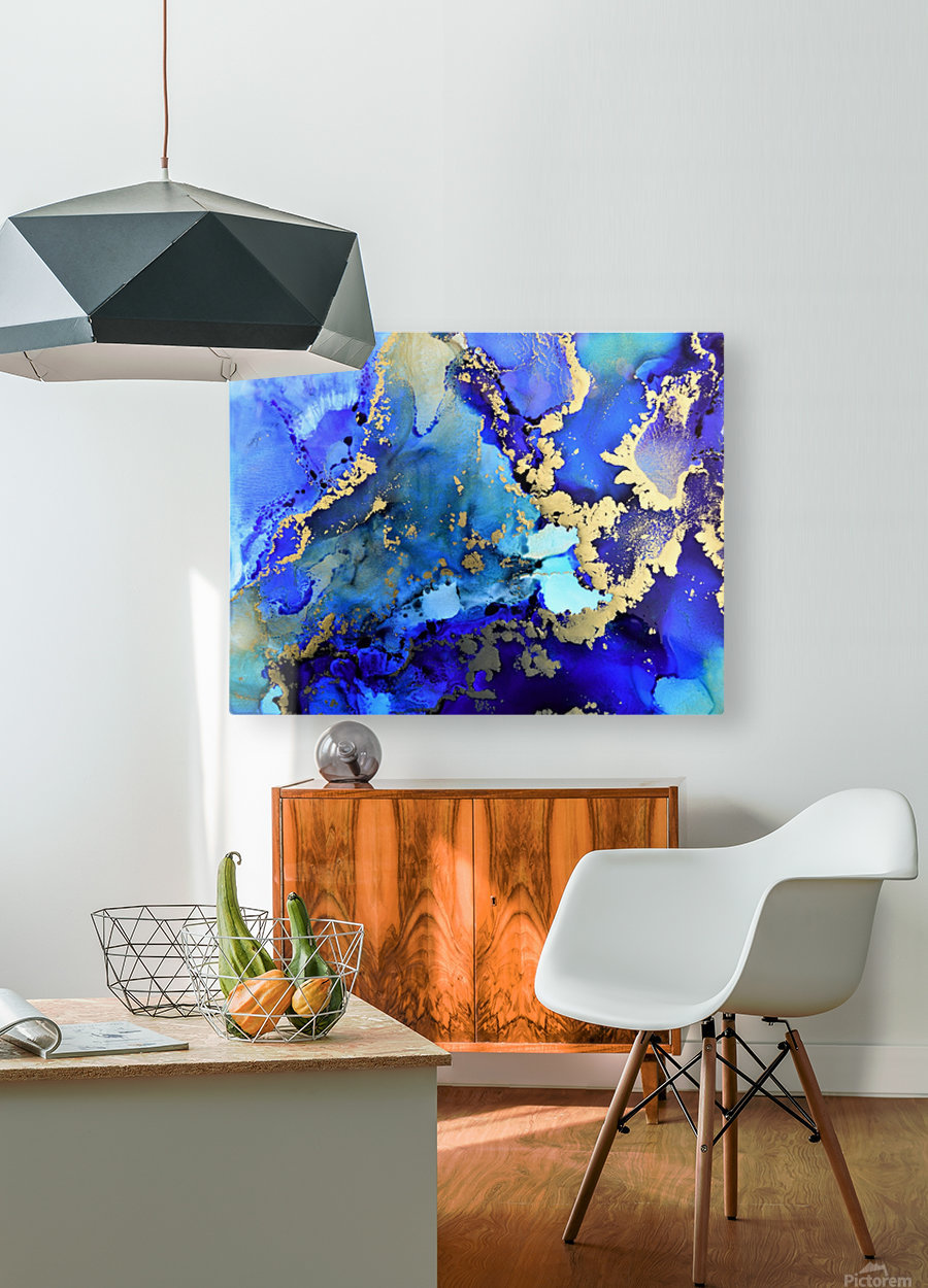 Starlight in Blue  HD Metal print with Floating Frame on Back