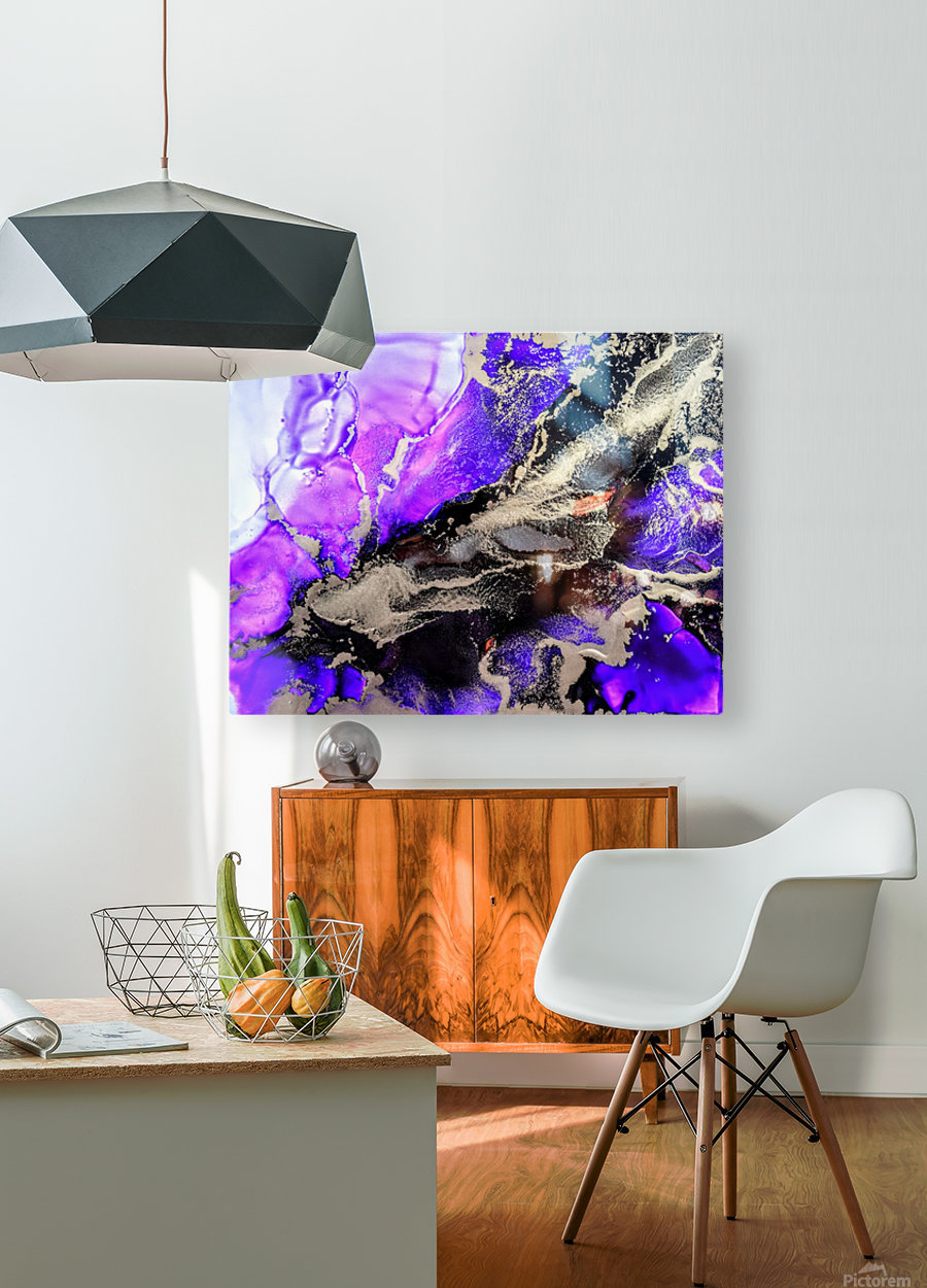 Purple Mirage II  HD Metal print with Floating Frame on Back