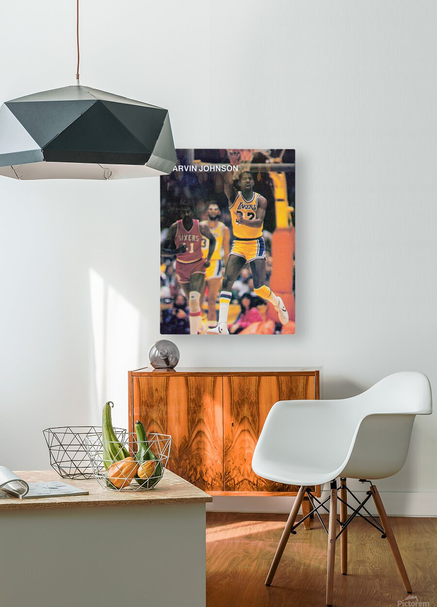 1983 Magic Johnson LA Lakers  HD Metal print with Floating Frame on Back