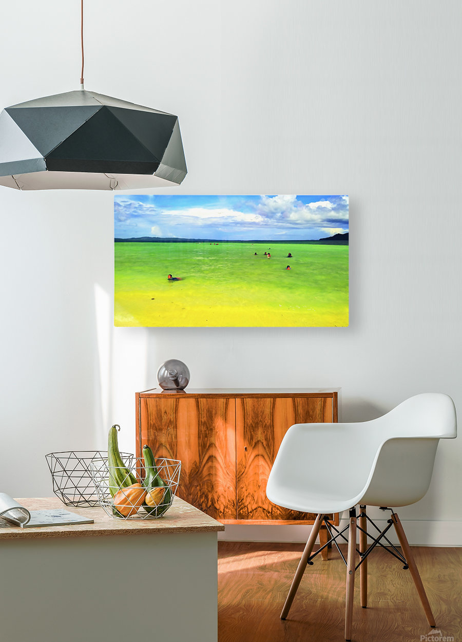Color of summer  HD Metal print with Floating Frame on Back