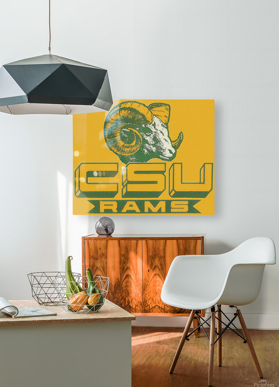 vintage colorado state university rams wood sign  HD Metal print with Floating Frame on Back