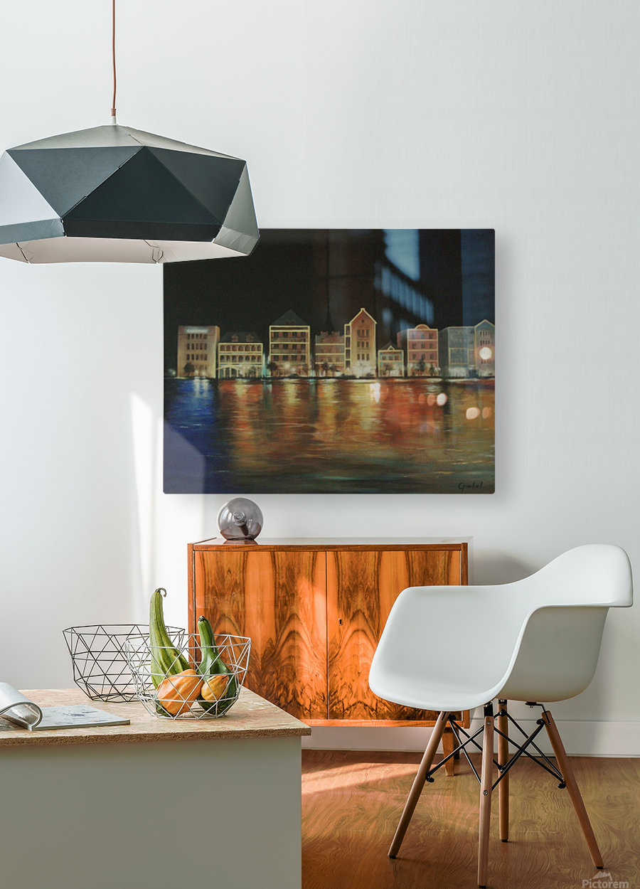 curacao   HD Metal print with Floating Frame on Back