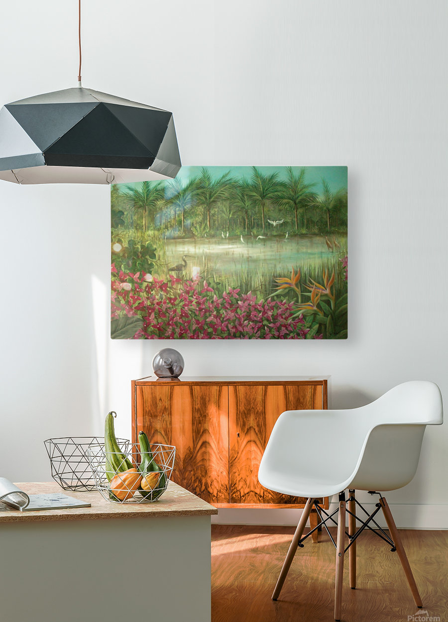 marshes   HD Metal print with Floating Frame on Back