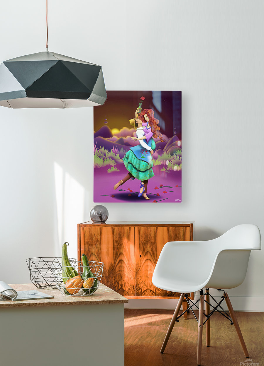 BIG GIRL 1  HD Metal print with Floating Frame on Back