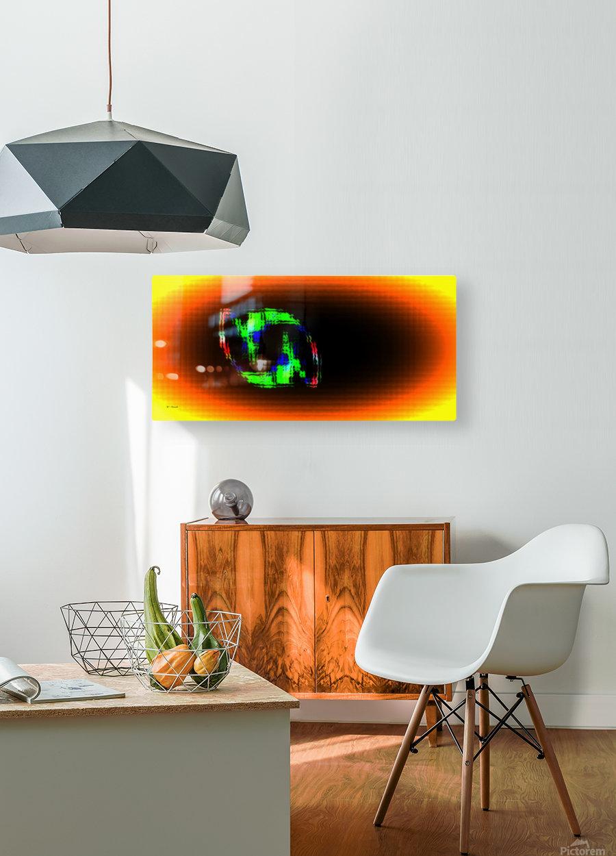Fractal Design 16  HD Metal print with Floating Frame on Back