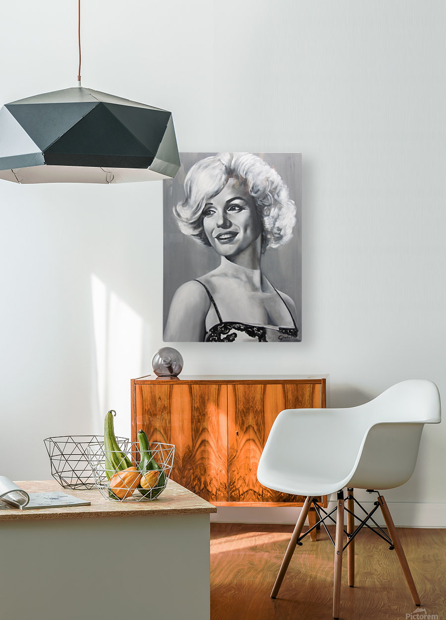 Monroe  HD Metal print with Floating Frame on Back