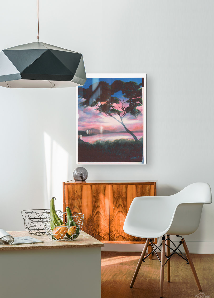 serenity  HD Metal print with Floating Frame on Back