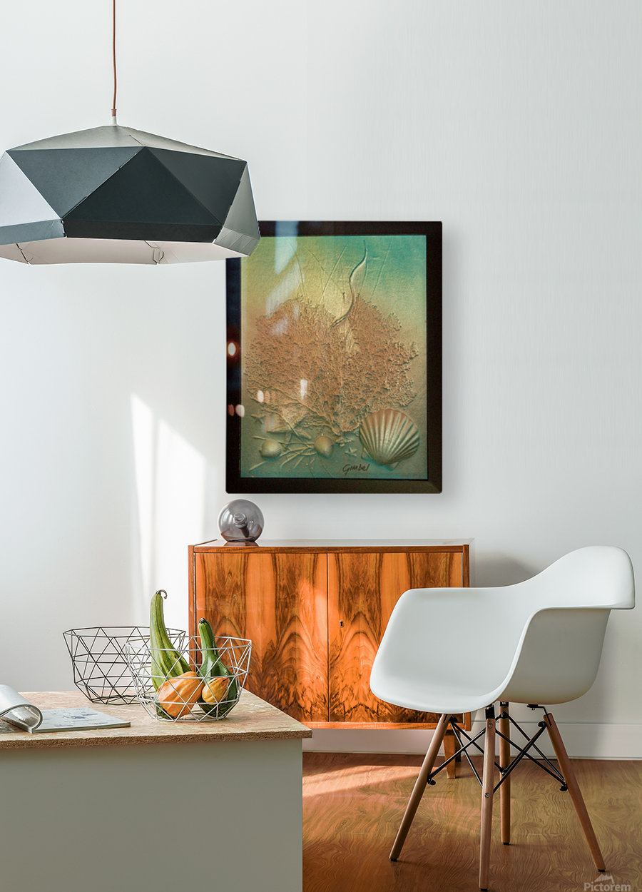 Coral Image Art  HD Metal print with Floating Frame on Back