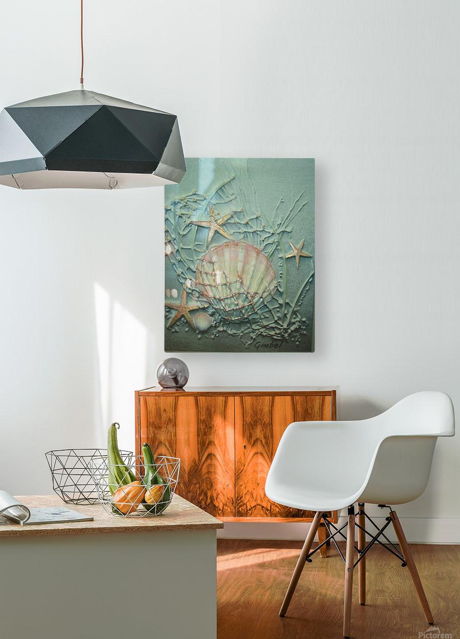 Starfish Image Art  HD Metal print with Floating Frame on Back