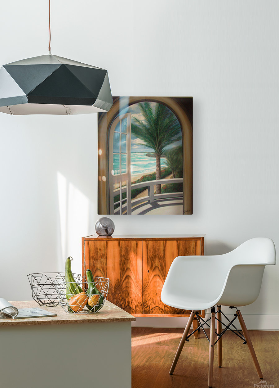 Balcony  HD Metal print with Floating Frame on Back