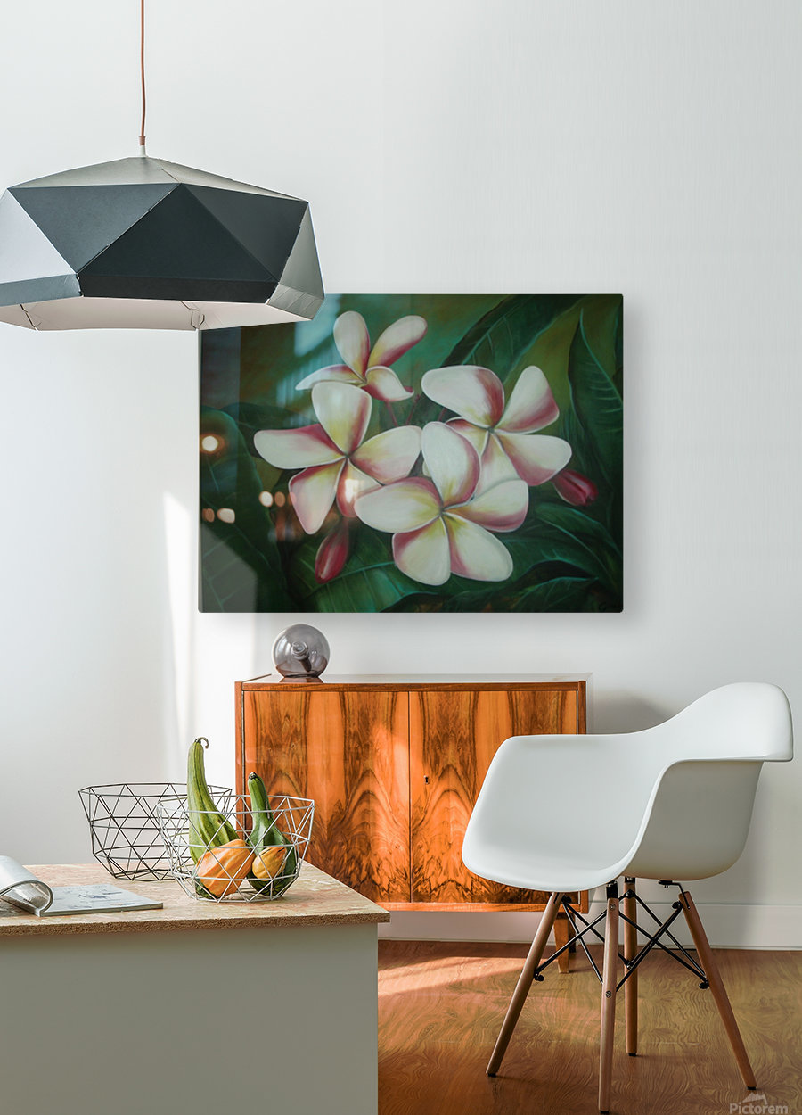 plumaria  HD Metal print with Floating Frame on Back