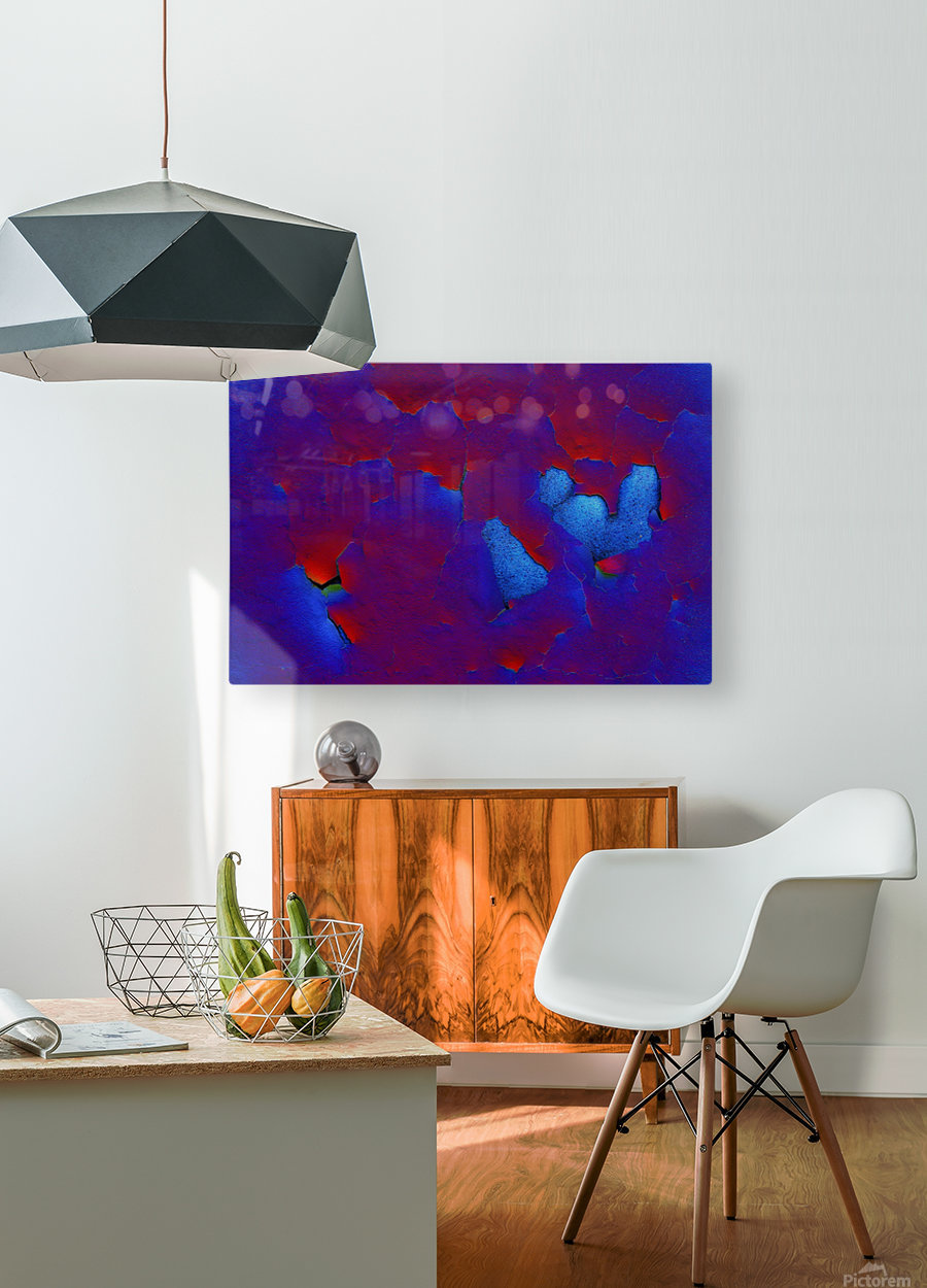 Rouge ecaille  HD Metal print with Floating Frame on Back