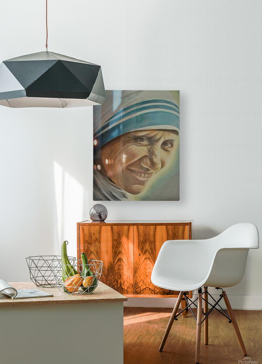 Mother Teresa (c)  HD Metal print with Floating Frame on Back