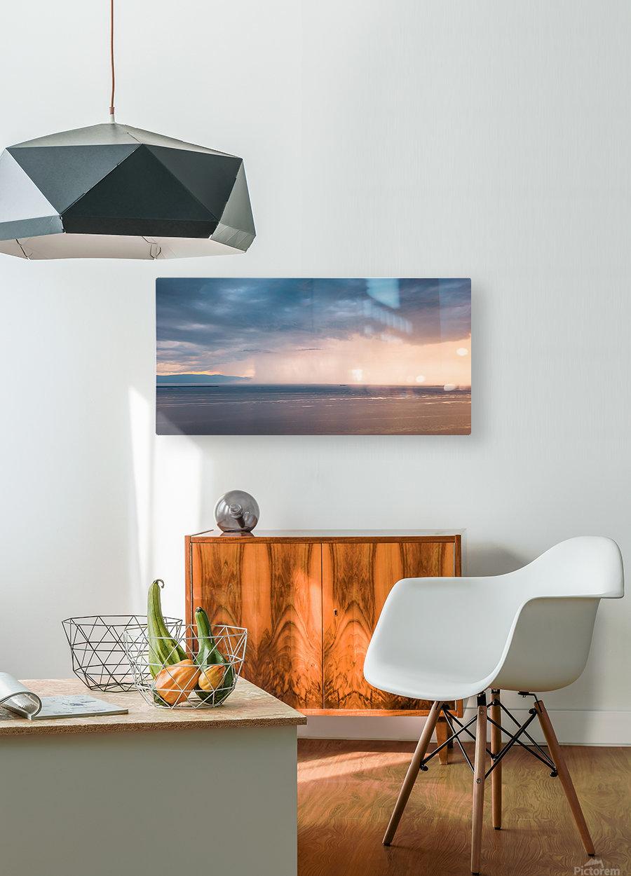 Veille dorage  Impression métal HD avec cadre flottant sur le dos