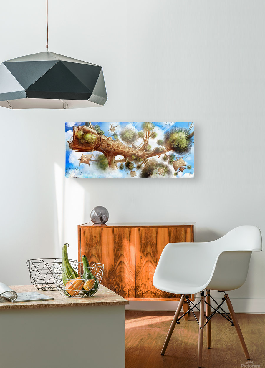 Tree Ship  HD Metal print with Floating Frame on Back