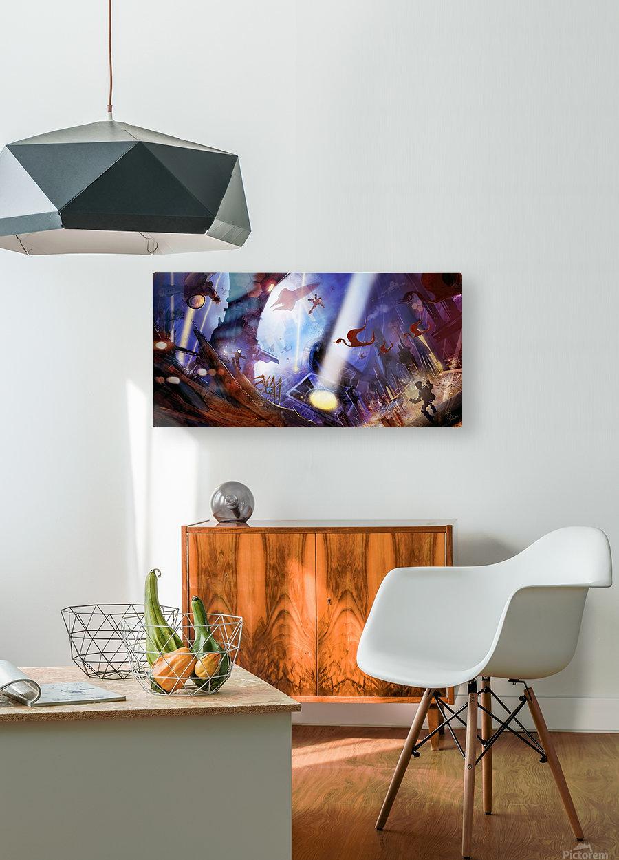 Lights On - Alien Megastructure Rama V  HD Metal print with Floating Frame on Back