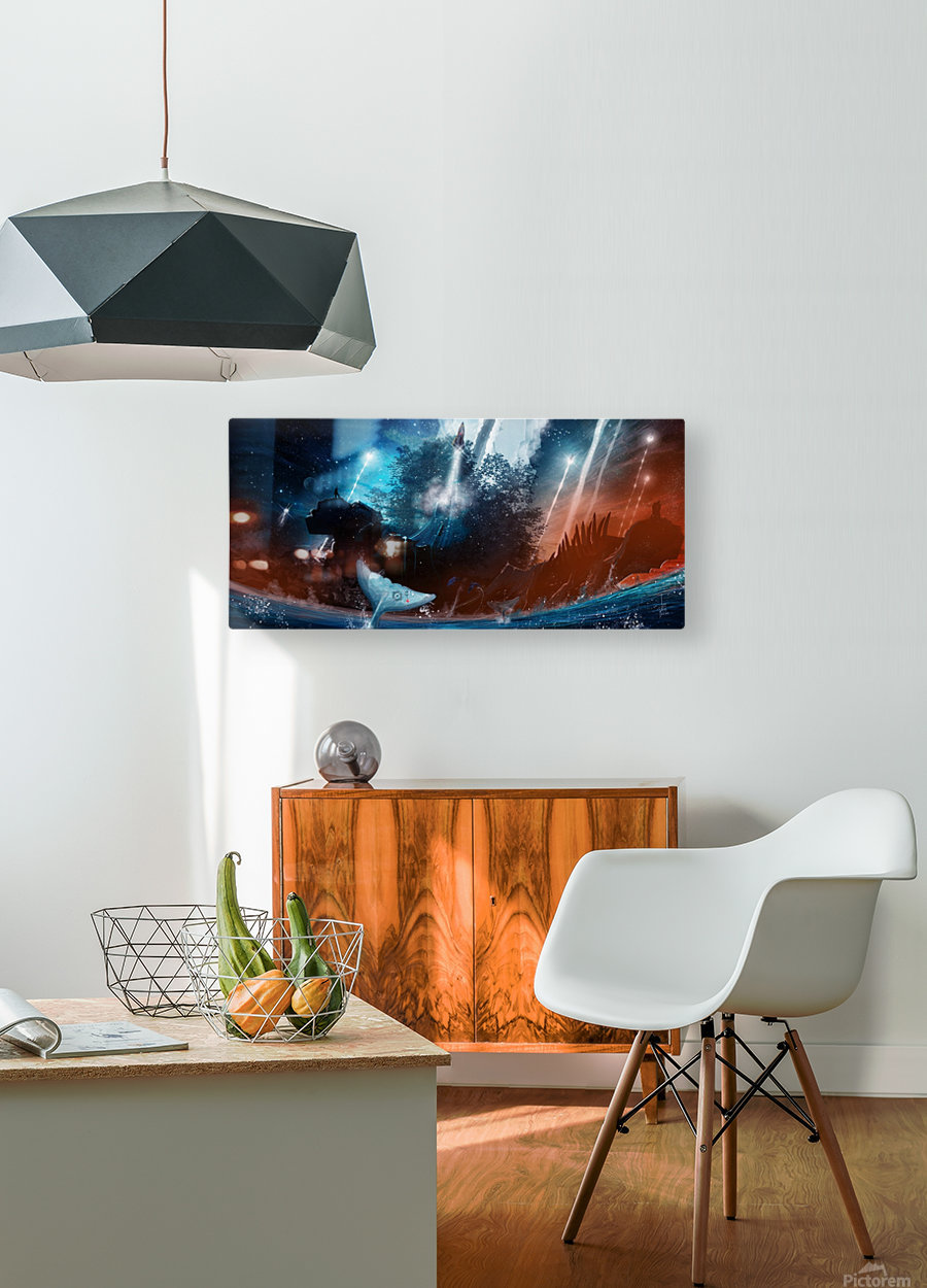 The Stars Are Our Destination  HD Metal print with Floating Frame on Back