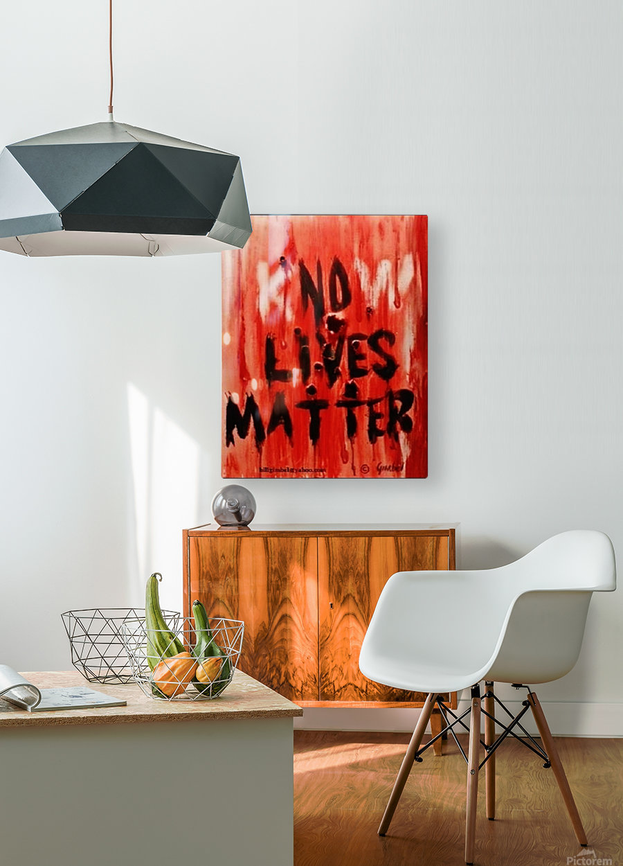KnoW  lives matter  HD Metal print with Floating Frame on Back
