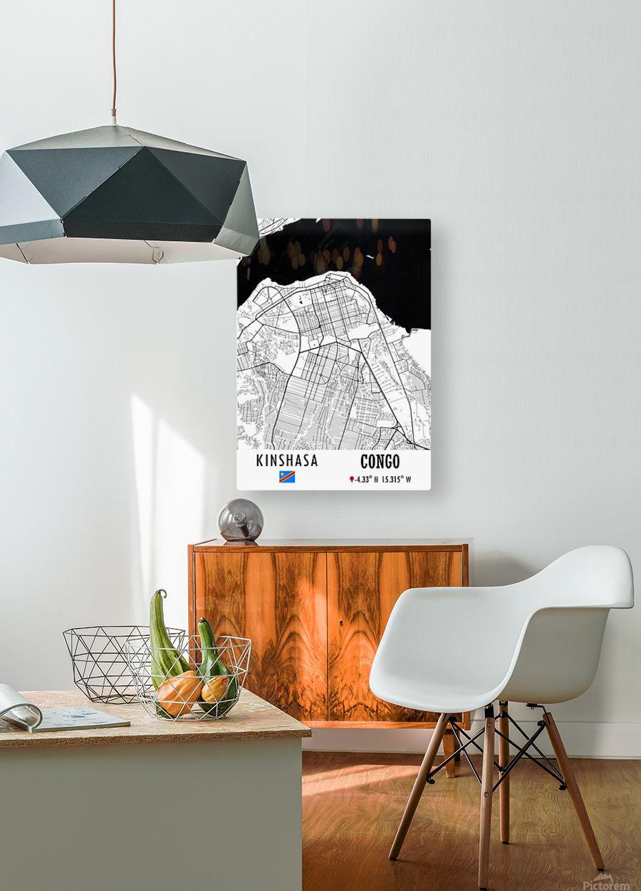 Kinshasa CONGO  HD Metal print with Floating Frame on Back