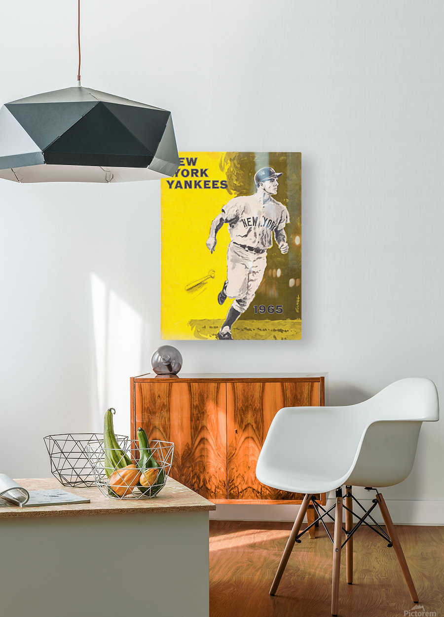 1965 new york yankees poster  HD Metal print with Floating Frame on Back