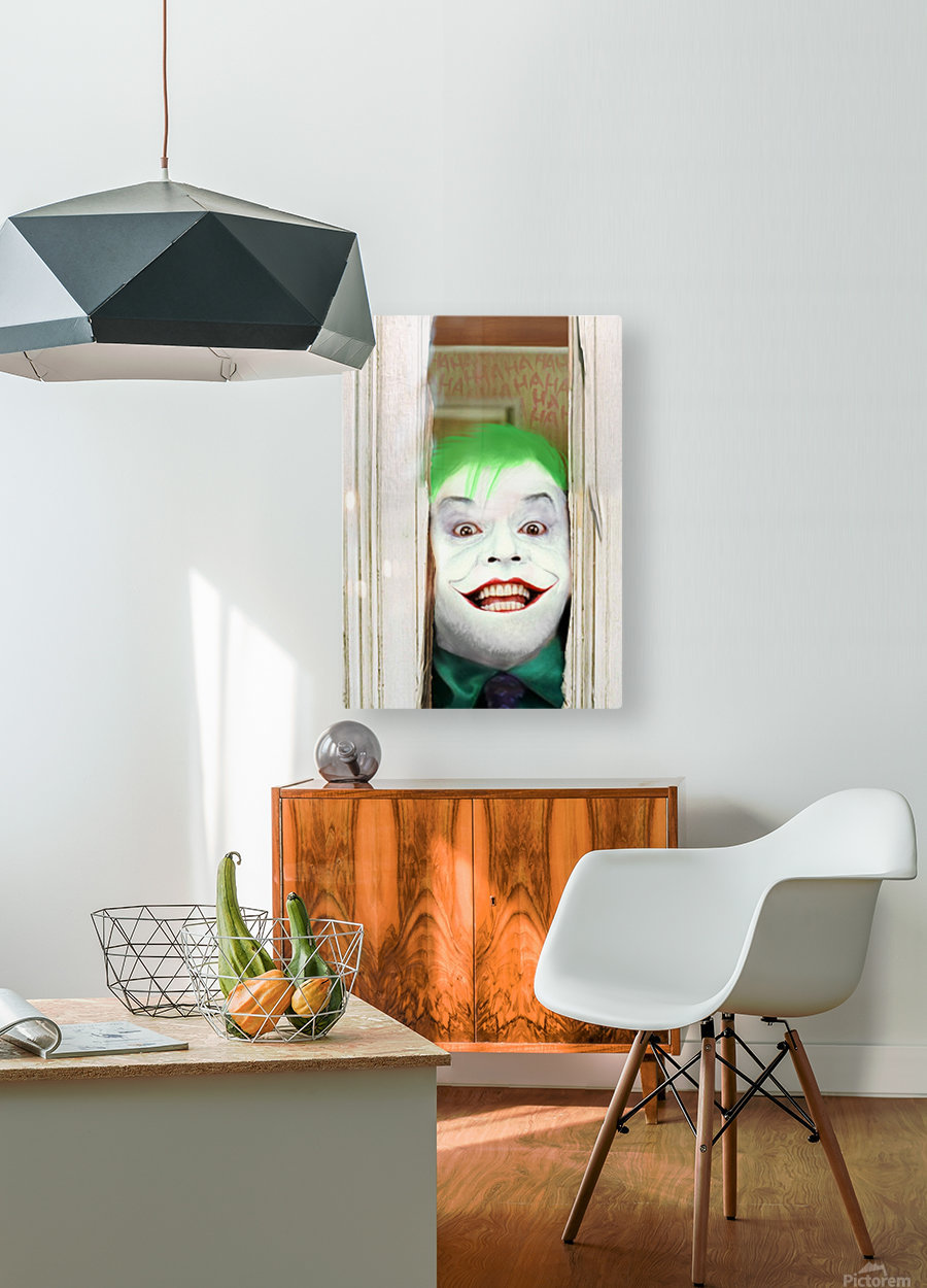 Heres The Joker  HD Metal print with Floating Frame on Back