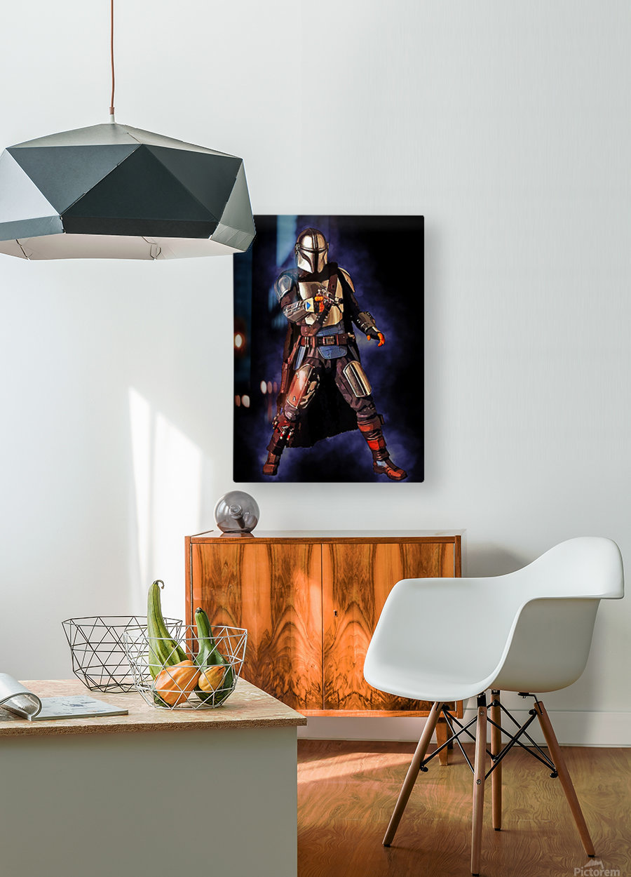 the mandalorian  HD Metal print with Floating Frame on Back