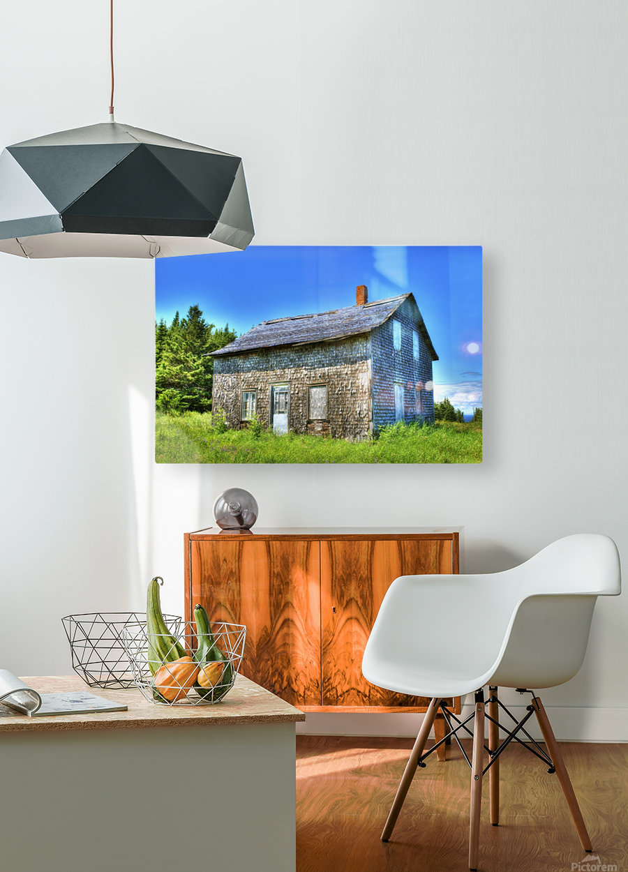 Toit bleu  HD Metal print with Floating Frame on Back