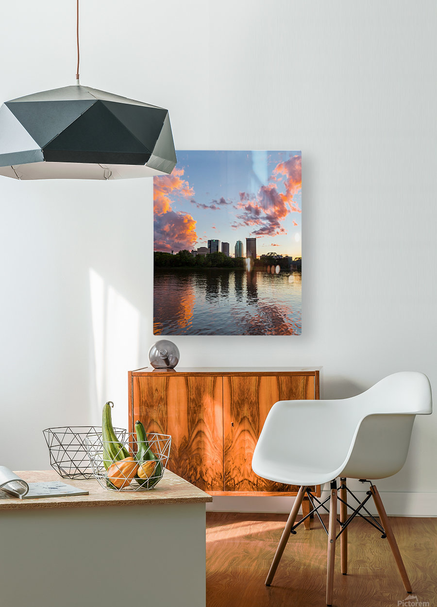 Winnipeg Sunset  HD Metal print with Floating Frame on Back
